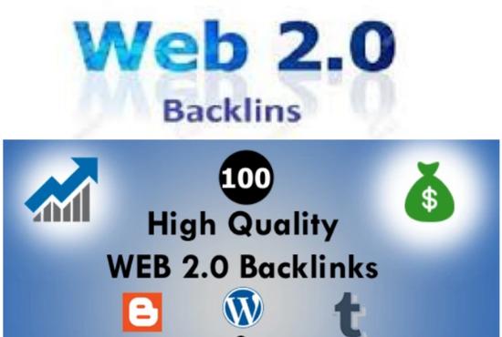 I will realize web 2 0 backlinks manually