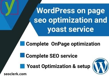 WordPress on page SEO optimization and yoast service