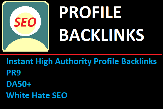 Profile backlink by High,  DA,  PA,  PR,  Site for grow your web site and get more profit.
