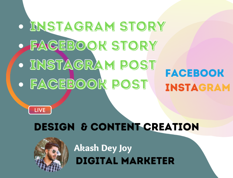 I Will create Facebook or IG story or post for you