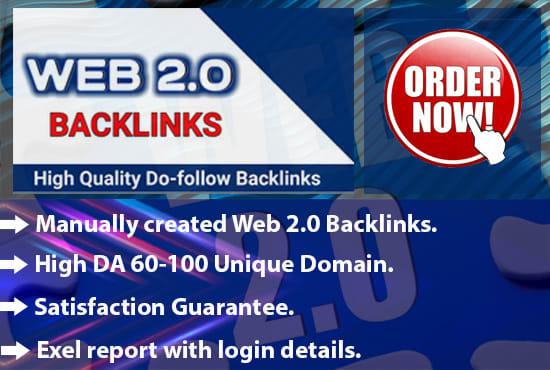 Manually create 100 web 2 0 backlinks for ranking