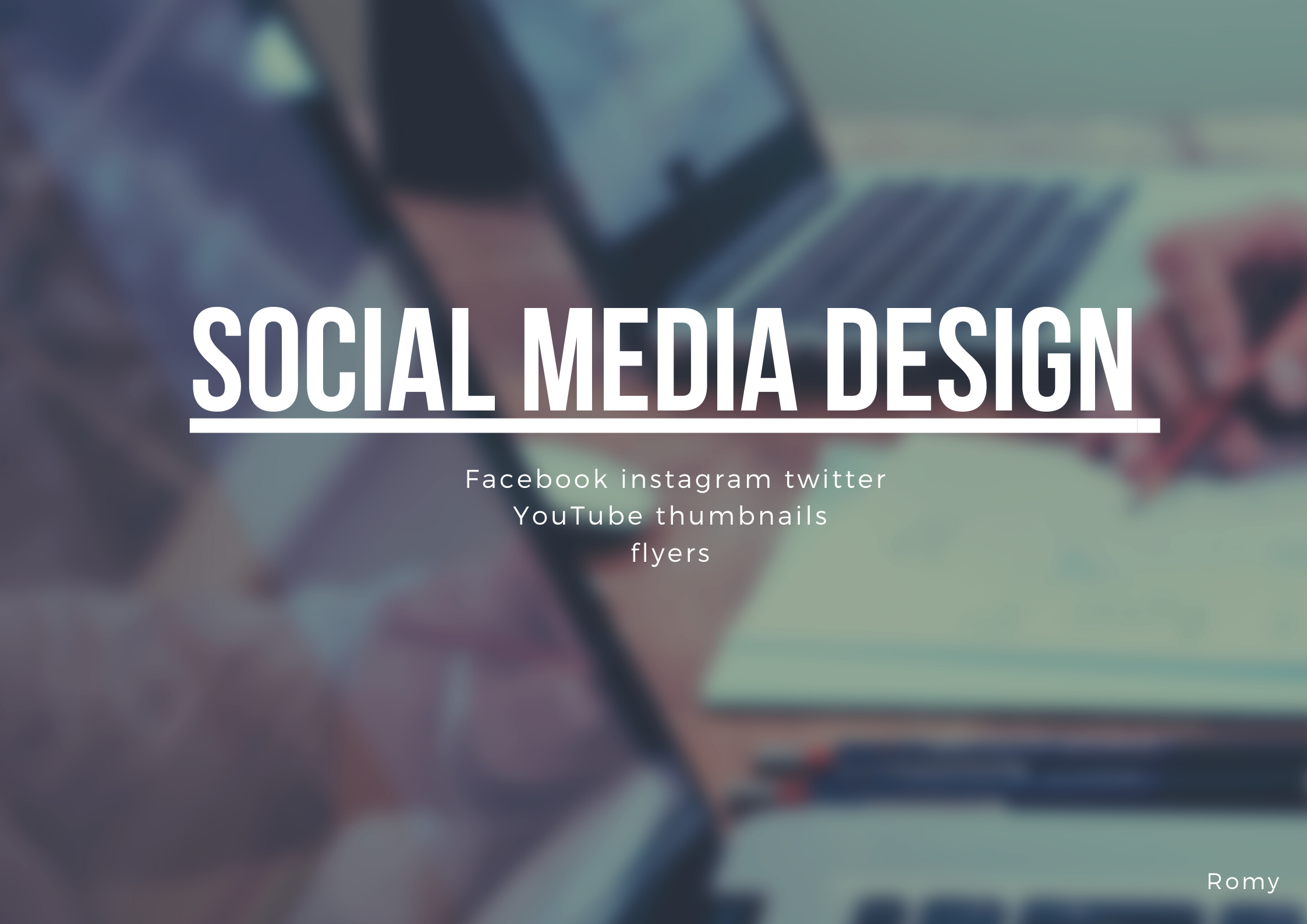 Social media posts and any contents designing