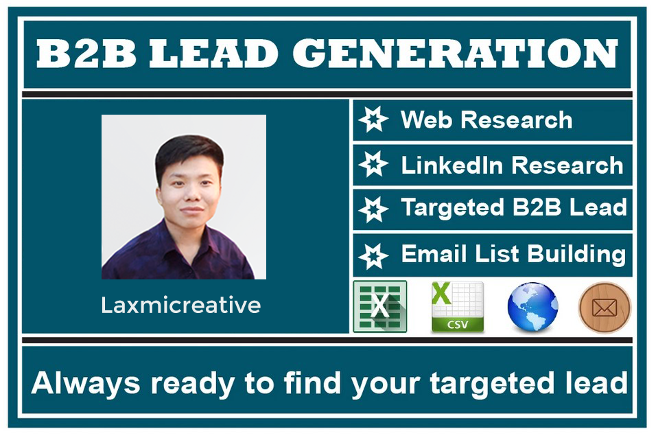 I will find business email list and linkedin lead generation