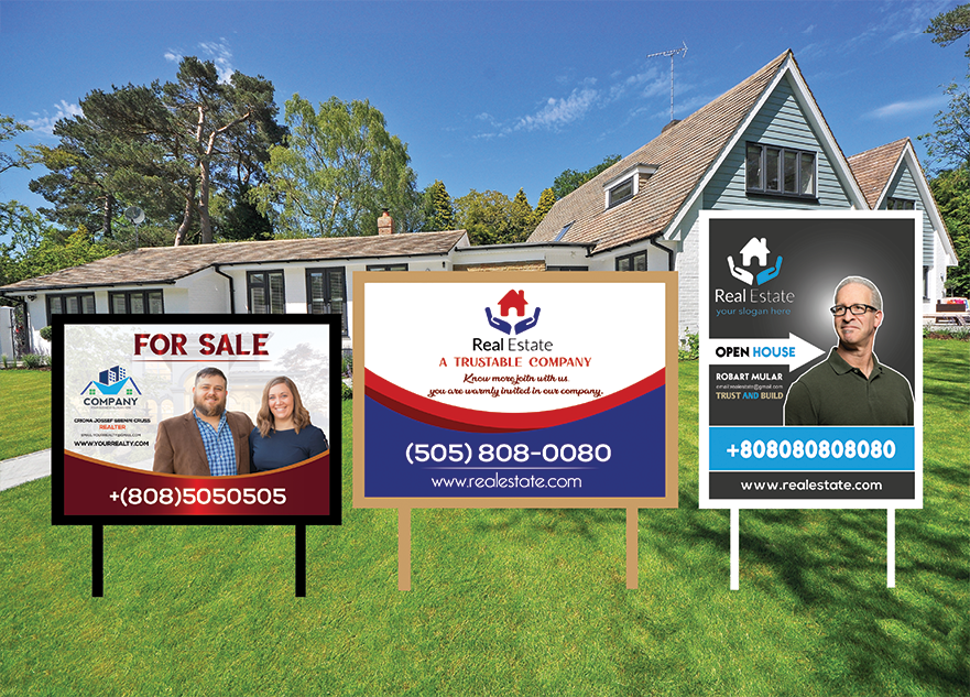 I will design eye catching real estate yard sign or sale signage