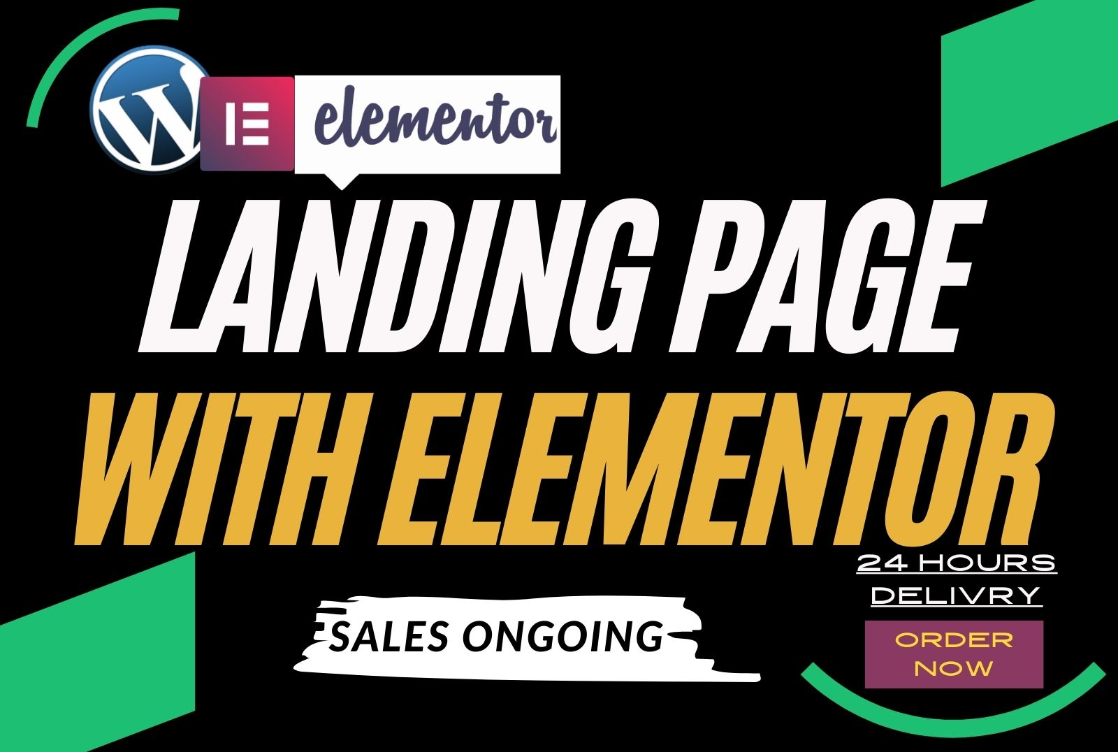 I will design wordpress landing page and responsive with elementor pro