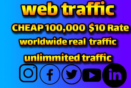 Organic web 3000+ traffic promotion for websites