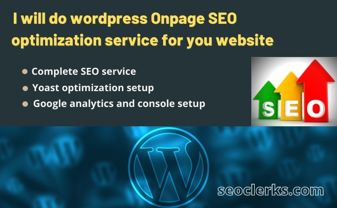 I will do Wordpress On-page SEO Technical On-page Optimization service and Website ranking