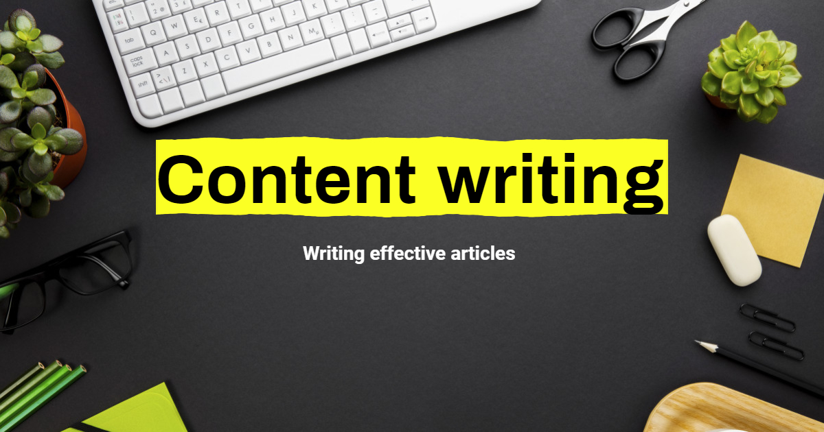 Writing your contents within a day