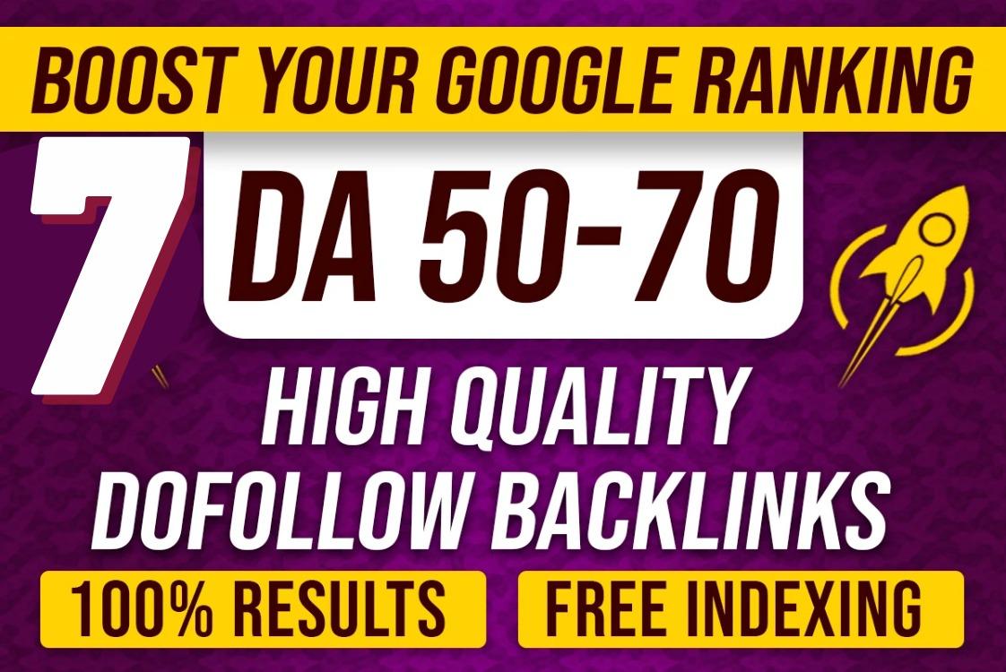 5 high da 60 plus PBN contextual seo dofollow backlinks