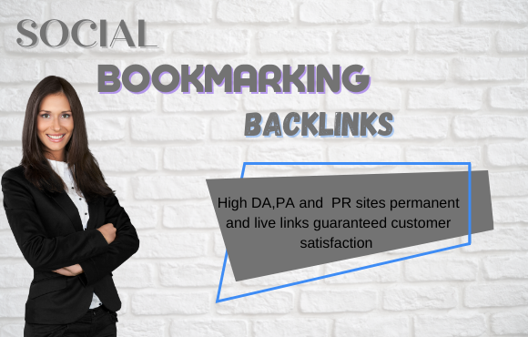 I will do social bookmarking submissions with high DA backlinks