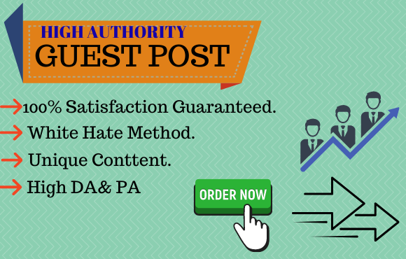 I will publish 10 guest post on DA 50+ site