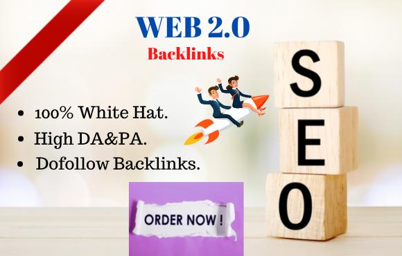 I will create 50 high authority web 2 0 backlinks