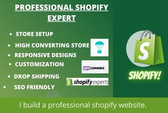 I WILL CREATE AND DESIGN SHOPIFY DROPSHIPPING STORE OR WEBSITE