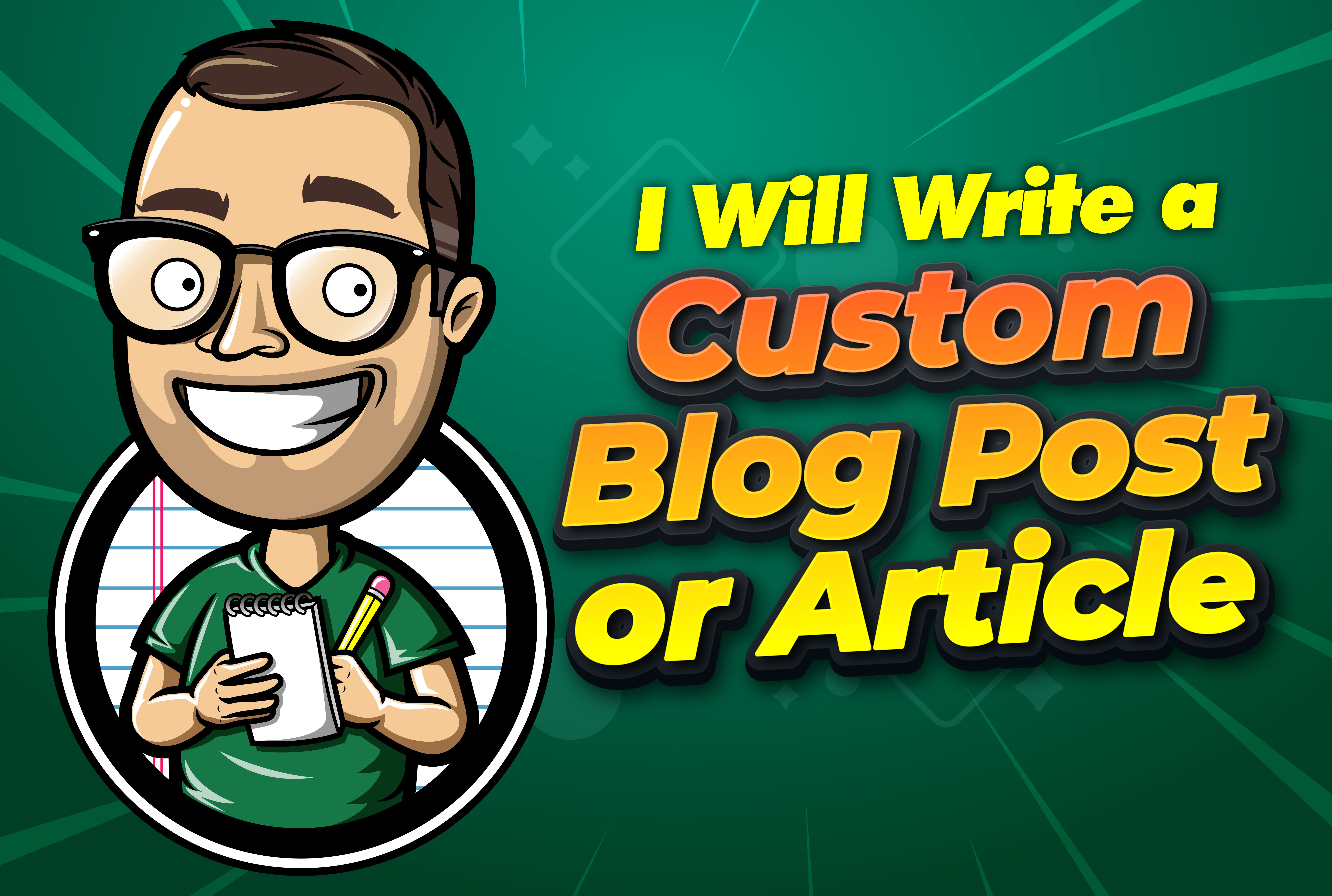 I will write a 1,000+ Words custom blog post or article,  SEO friendly article