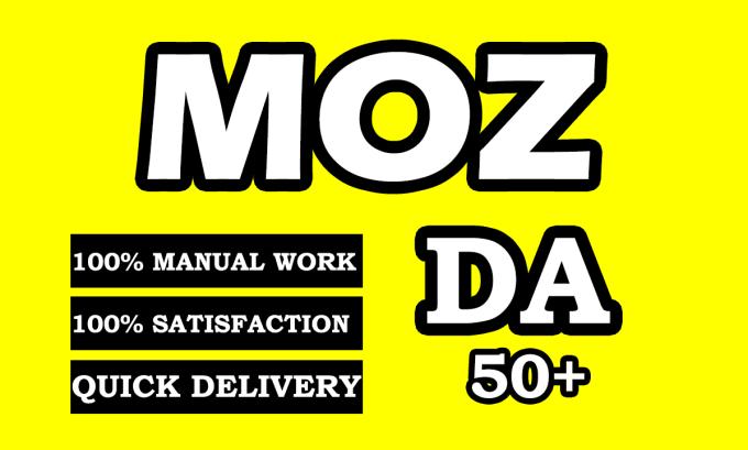 I will increase moz da domain authority to 50 plus