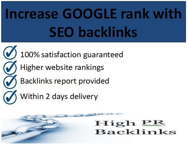 Increase google rank with high quality backlinks