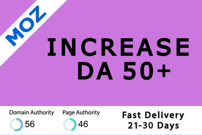 I will increase moz da domain authority 50 plus with backlinks