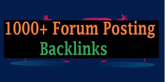 I will 1000 high quality forum profile dowollow baclinks