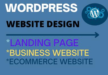 WordPress website design/ redesign with elementor pro, astra pro/divi