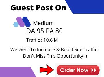 Write and publish guest post On Medium. com DA-95