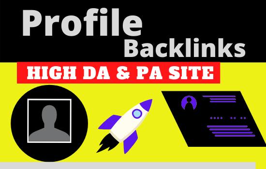 Manually Create 40 High Quality DA 80+ SEO Profile Backlinks
