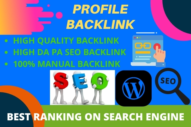 I will build 200 high quality DA profile backlinks manually for Website SEO