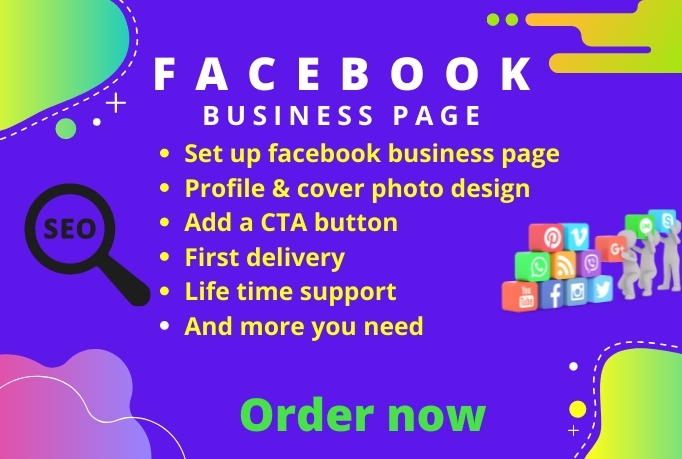 I will set up optimize business page creation and banner & cover design creation