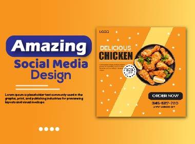I will 8 Amazing Insta ads social media design in 24 hours