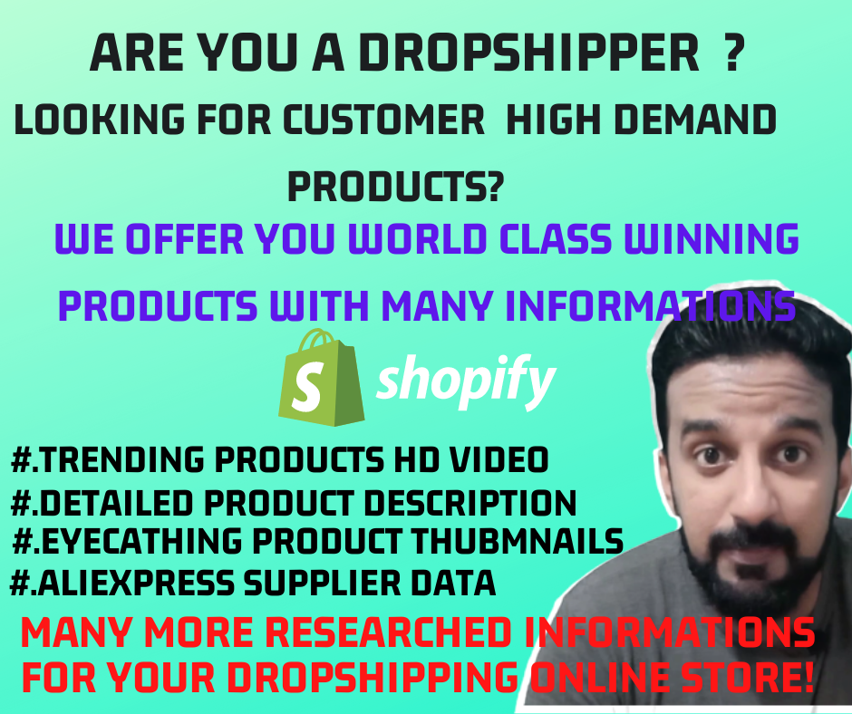 Shopify winning product research for dropshipping