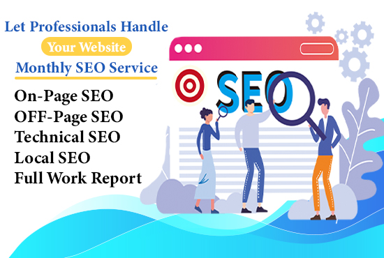 I will do best monthly SEO service with backlinks for google top ranking