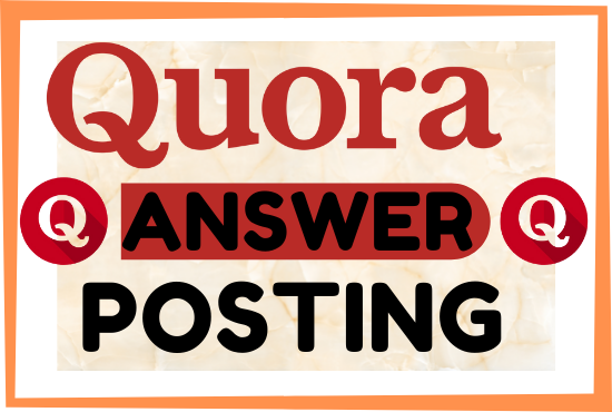 Create 5 quora answer postig with high quality backlinks
