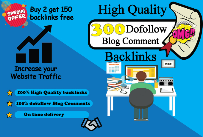 Manually provide 300 HigH-Quality Dofollow Blog Comment backlinks for google rank
