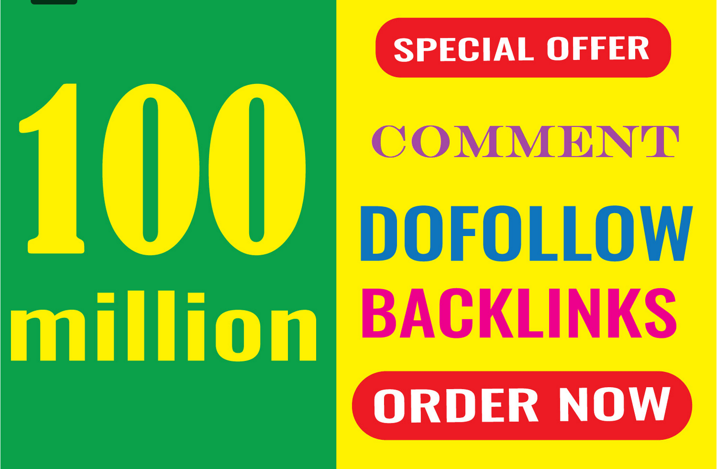 100 million powerfull SEO dofollow blog comment backlink to rank your website