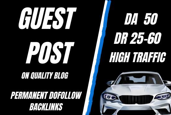 High da guest post on quality auto blog DA 32