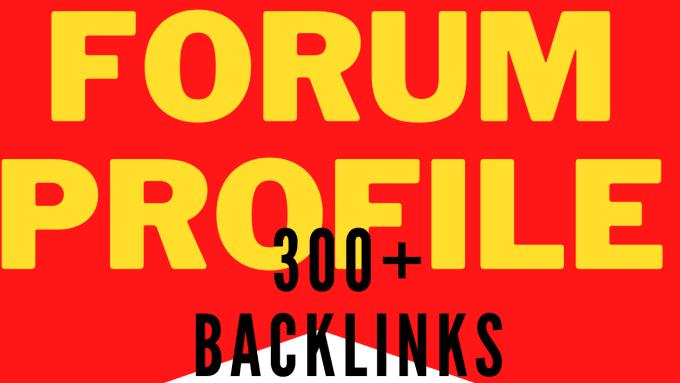 I will build 300 manually forum profile backlinks dofollow top ranker