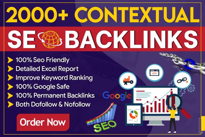 Build 1000 high quality seo contextual dofollow backlinks