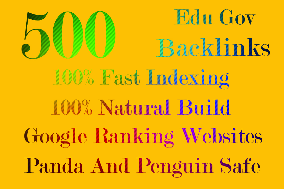 I Will Create first indexing 500 edu & gov backlinks