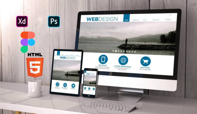 I will convert psd,  xd,  figma to html responsive website