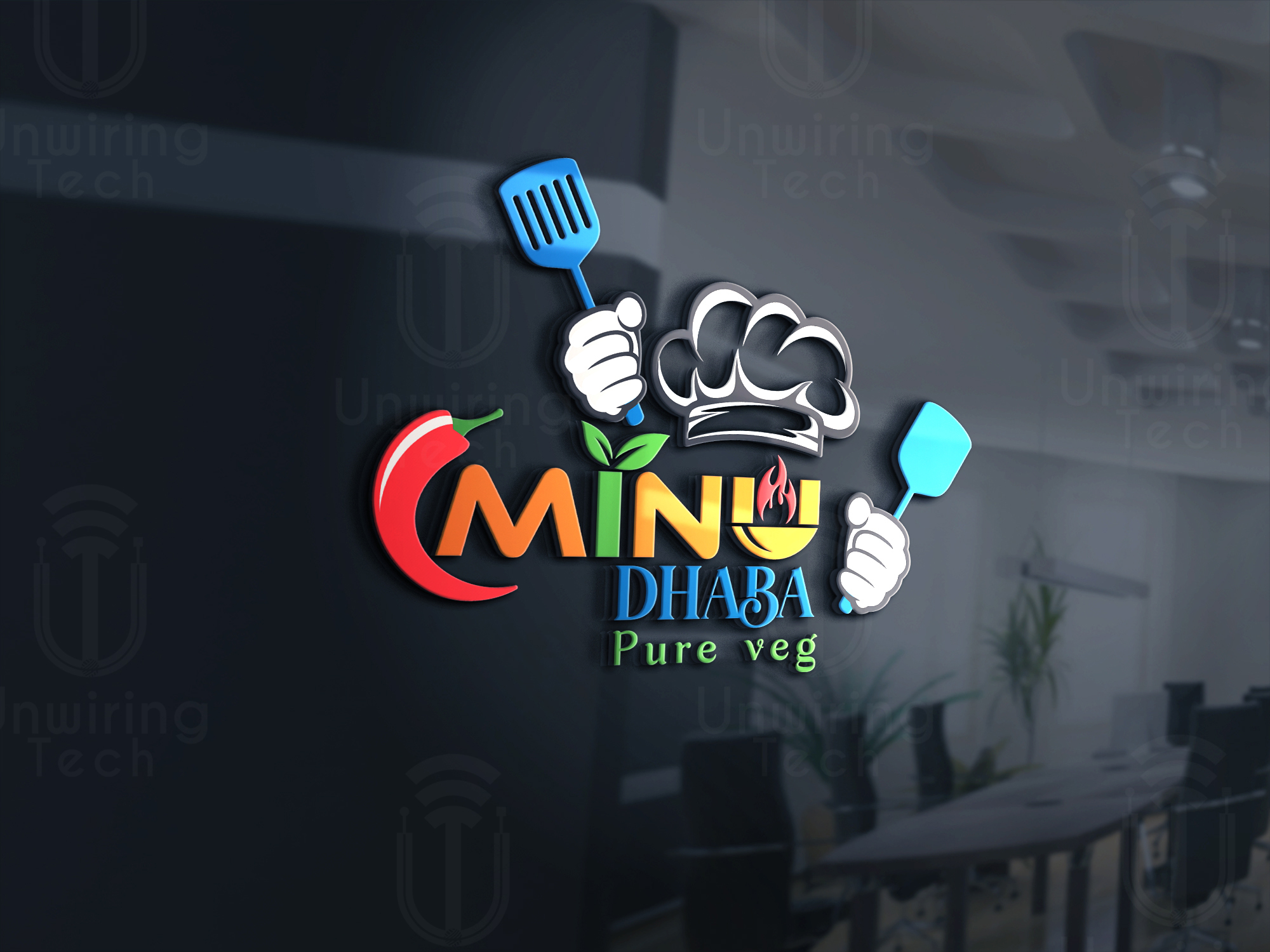 I will design a attractive eye catching logo for your Brand with visiting card,  letterhead,  envelope
