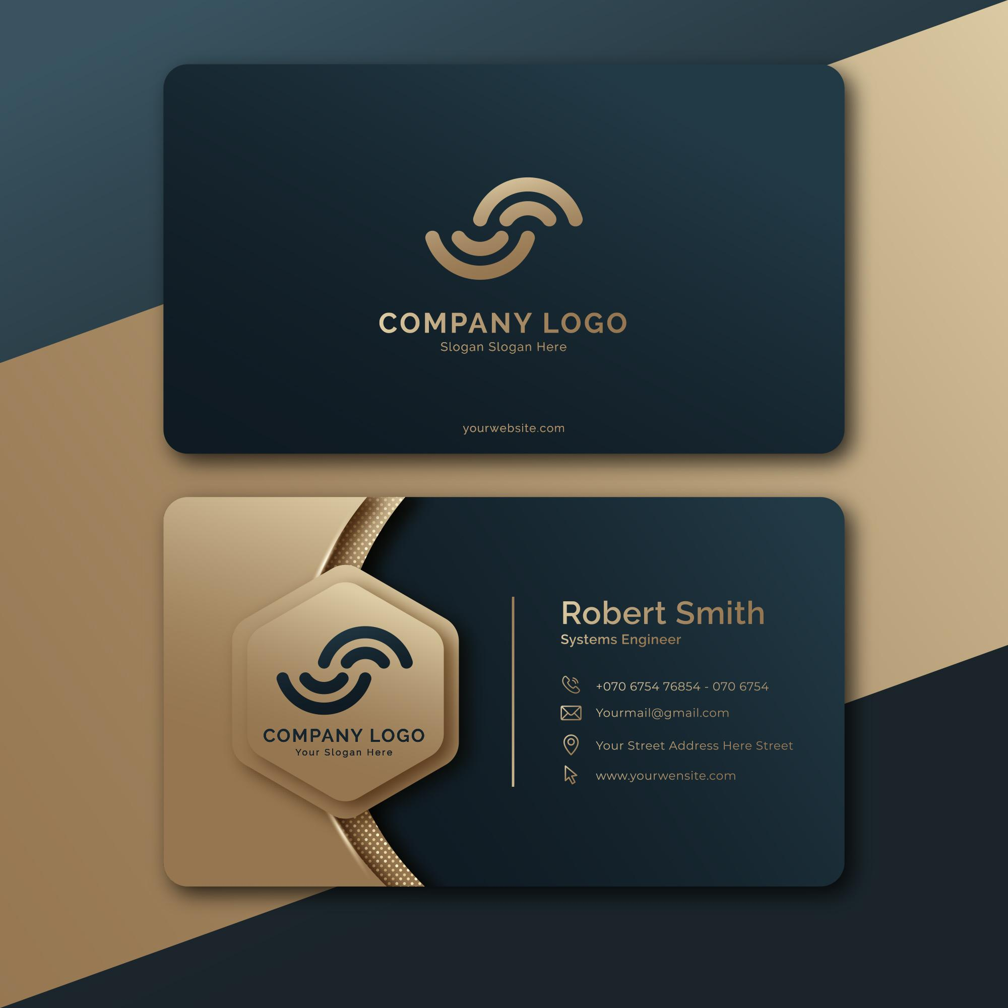 Professional business card within 4 hours delivery
