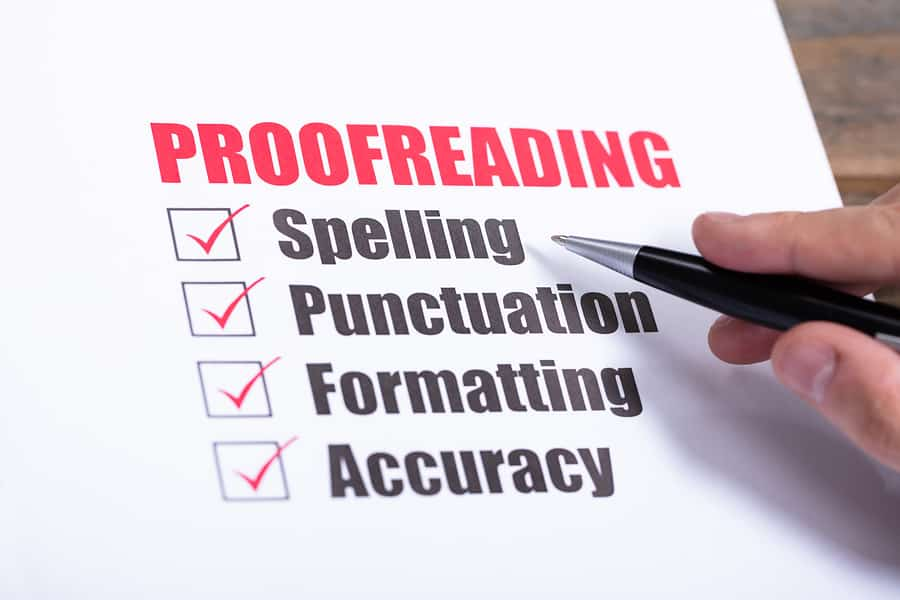 I will proofread and edit on any word document