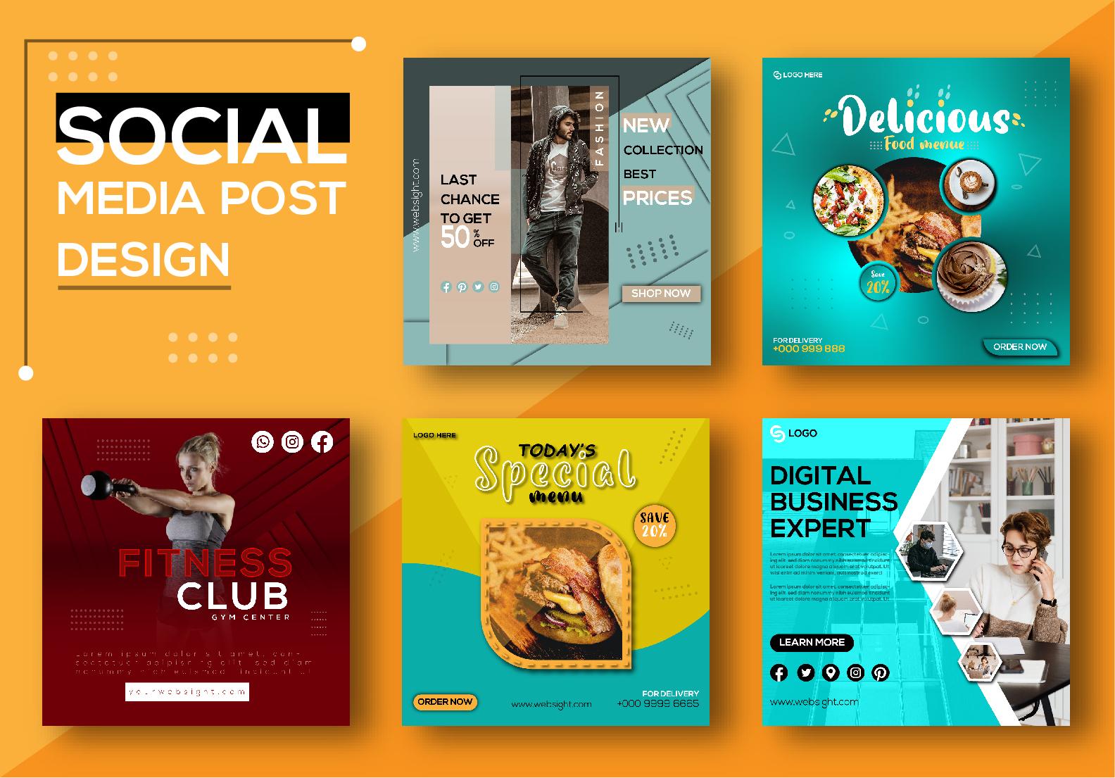 I will design social media kit,  Facebook cover ads,  Instagram,  Pinterest pins