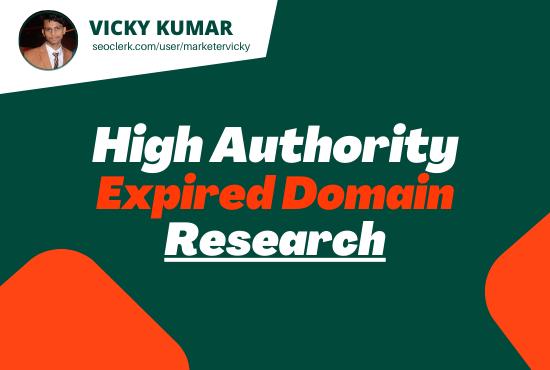 I will Provide High Quality SEO Friendly Expired Domain