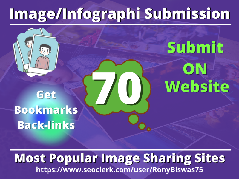 I will do submit infographic or image On top 70 high-quality PR Websites