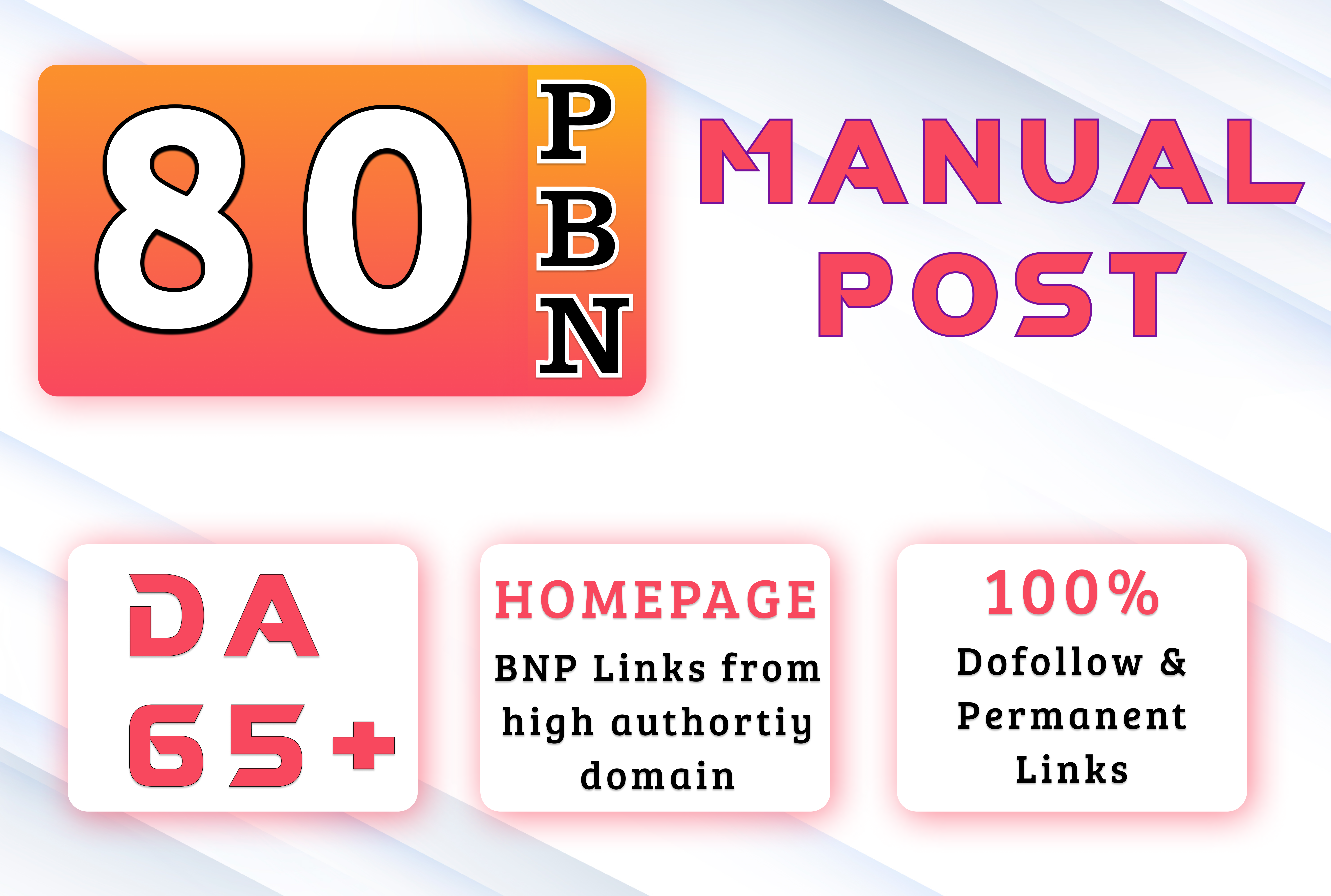Get 80 High Quality DA 60+ Permanent HomePage Dofollow PBN Links