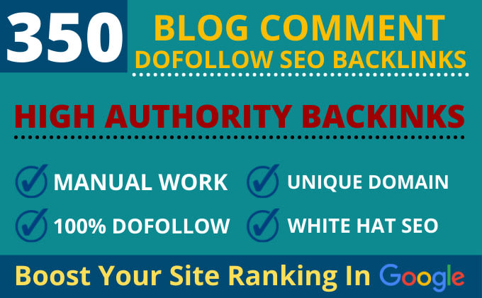 I will create 350 dofollow blog comment seo backlinks on unique domain