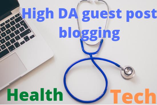 I will do high da guest post blogging