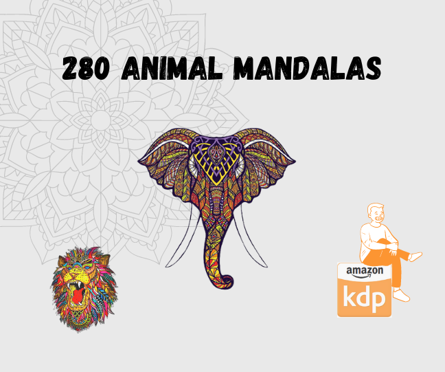 Get 280 Animal Mandalas / coloring pages for adult