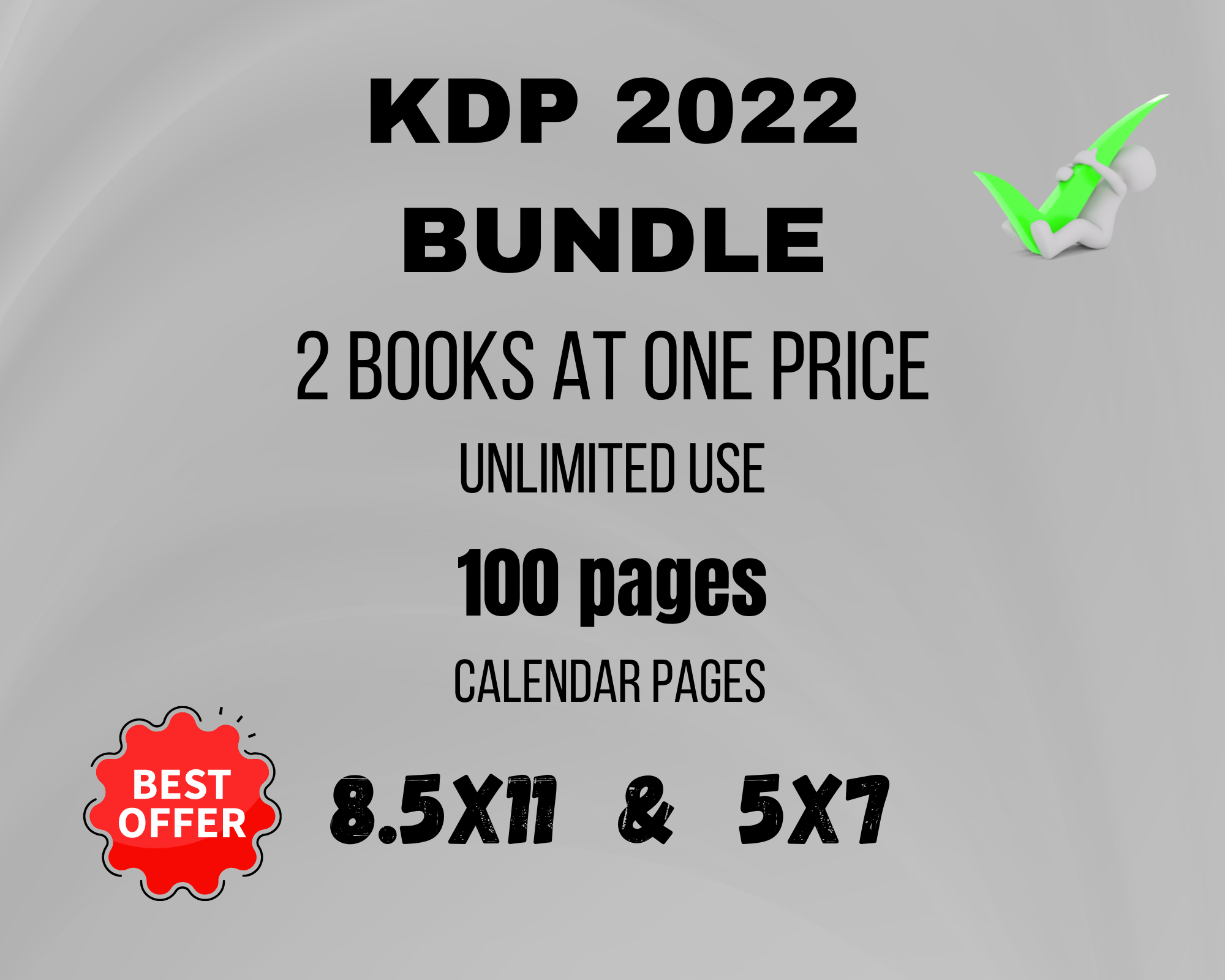 I will create a 2022 planner ready to use KDP