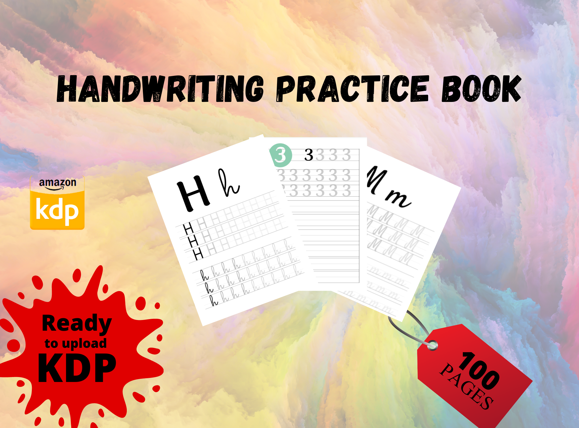 Get a Letter & Number tracing children activity book for self publishing kdp